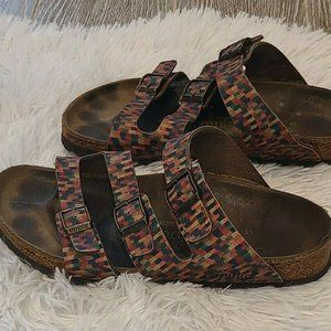 Birkenstock papillo Arizona Washed corful Womens 8
